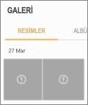 Galeri uygulamasında şifreli bir resim dosyası.