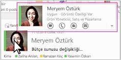 Outlook Skype Kurumsal Hızlı Menüsü