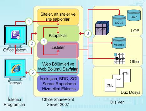 InfoPath'in veri odaklı tümleştirme noktaları