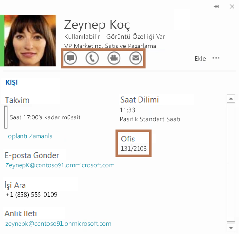 Skype Kurumsal kişi kartı