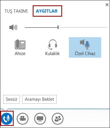 Lync'te ses cihazınızı değiştirme