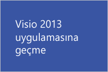 Visio 2013 uygulamasına geçme
