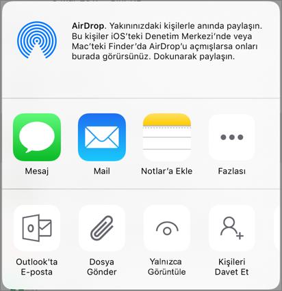 OneDrive'da Paylaşma