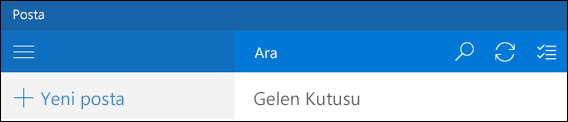 Outlook Posta'da ara