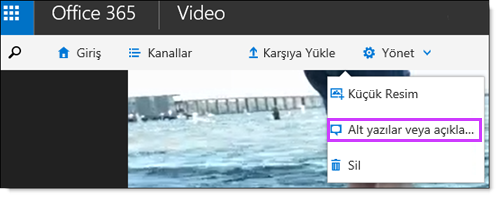 Office 365 Video alt yazıları