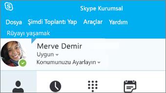 Skype Kurumsal 2016 ile çalışmaya başlama