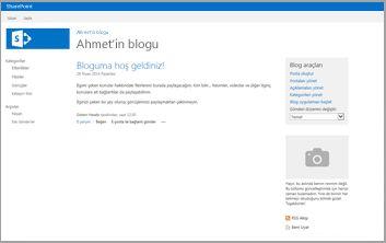 Blog Sitesi Şablonu