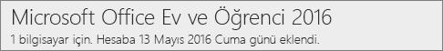 Office 2016'nın PC sürümü Office.com/myaccount'ta nasıl gösterilir