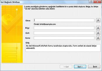 Form verilerini gönderme ve kaydetme