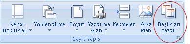Excel Şerit Görüntüsü