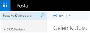 Outlook Web App'te şeridin görünüşü