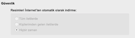 Outlook'ta yönetilen tercih