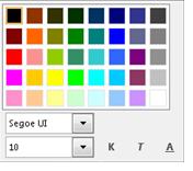Yazı tipini değiştir penceresinin ekran görüntüsü