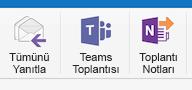 Şeritte Teams Toplantısı düğmesi