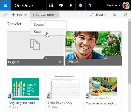 OneDrive Klasörü Karşıya Yükle