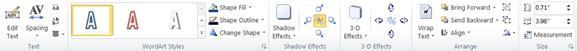 Publisher 2010'da WordArt araçları sekmesi