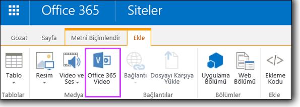 Office 365 Video Video katıştırma