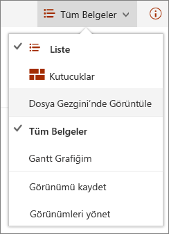 Internet Explorer 11 SharePoint Online görünümleri