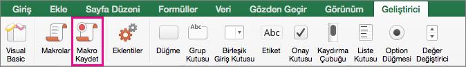 Mac için Excel Makro Kaydet