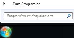 Program arama ekran görüntüsü