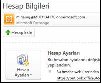 Outlook 2010'a yeni e-posta hesabı ekleme
