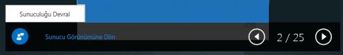Sunuyu devralmanın ekran görüntüsü