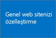 Genel web sitenizde görünümü, başlığı ve logoyu değiştirmeyi, ayrıca başka özelleştirmeler yapmayı öğrenin