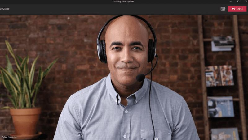 Yalnızca görüntüleme etkin konuşmacı ekran görüntüsü