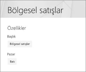 Sayfa özellikleri