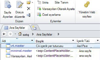 SharePoint 2010 ana sayfaları