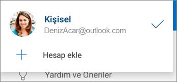 Android için OneDrive uygulamasındaki Hesap ekle