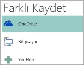 Publisher'da Farklı Kaydet'in ekran görüntüsü.