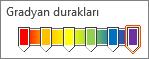 Gökkuşağı gradyan altı duraklarını kullanma