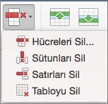 Mac için Office Tabloyu Sil