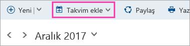 Takvim ekle düğmesinin ekran görüntüsü
