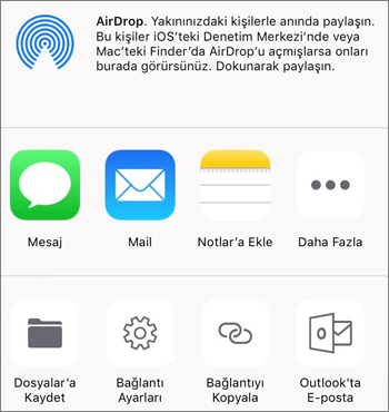 iOS için OneDrive uygulamasındaki Fotoğrafı Kaydet düğmesinin ekran görüntüsü