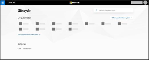 Office 365 giriş sayfası