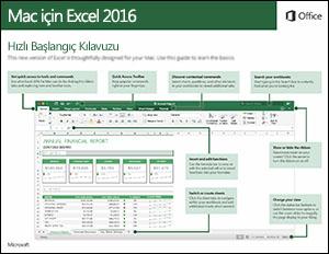 Mac için Excel 2016 Hızlı Başlangıç Kılavuzu