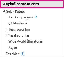 Outlook hesabı