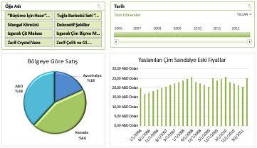 Excel Services panosu örneği