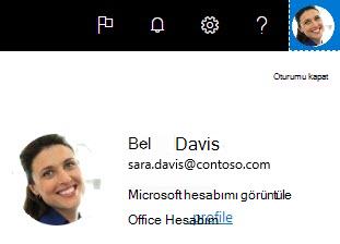 Delve 'deki Office profilim