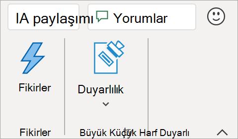 Doğrudan Excel uygulamasından geri bildirim gönderin.