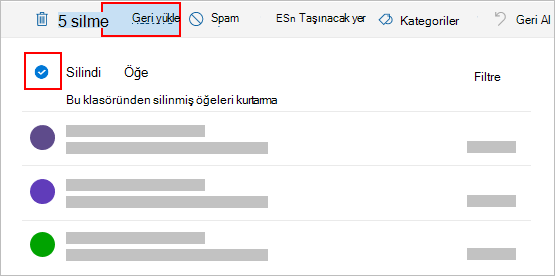 Outlook.com Sil iletişim kutusu