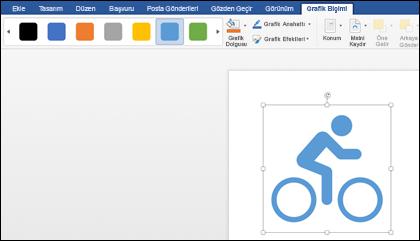 Bir bisikletin grafiğine açık mavi stili uygulanmış Stiller galerisi