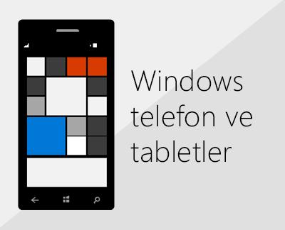 Windows telefonlarda Office'i ve e-postayı ayarlamak için tıklayın