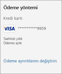 """""""Ödeme ayrıntılarını değiştir"""" bağlantısını gösteren ekran görüntüsü."""