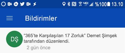 Paylaşılan dosyalarınızı colleages düzenlediğinizde, Android bildirim ortaya bildirimleri alma