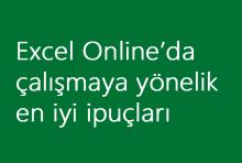 Excel Online'da çalışmaya yönelik en iyi ipuçları
