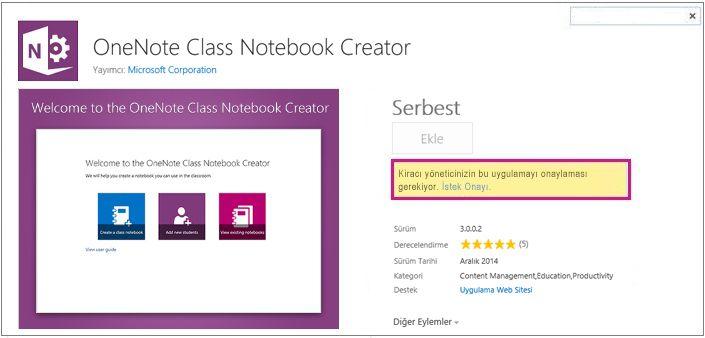 İstek Onayı bağlantısı vurgulanmış uygulama ayrıntıları sayfasının ekran görüntüsü