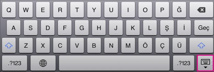 Ekran Klavyesini Gizleme